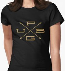 PUBG - Arrow Badge Gold Women's Fitted T-Shirt