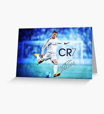 Cristiano Ronaldo sign Greeting Card