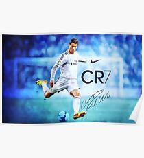 Cristiano Ronaldo sign Poster