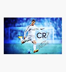 Cristiano Ronaldo sign Photographic Print