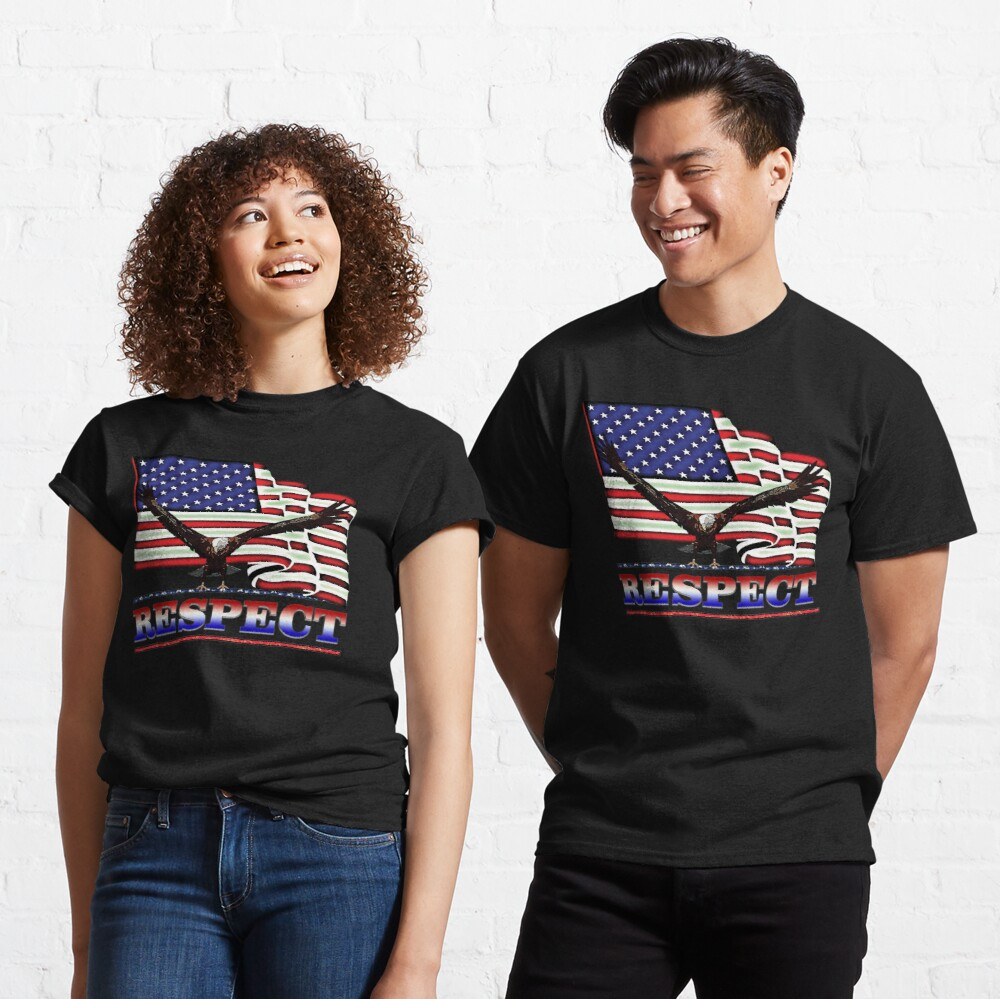 USA Flag RESPECT Red White & Blue Classic T-Shirt