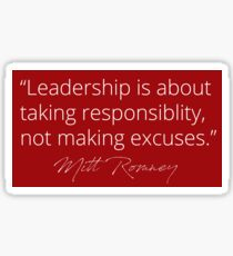 Mitt Romney: Leadership Red Sticker