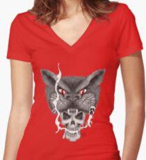 Rakshasha555 Women's Fitted V-Neck T-Shirt