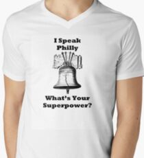Speaking Philly Men's V-Neck T-Shirt
