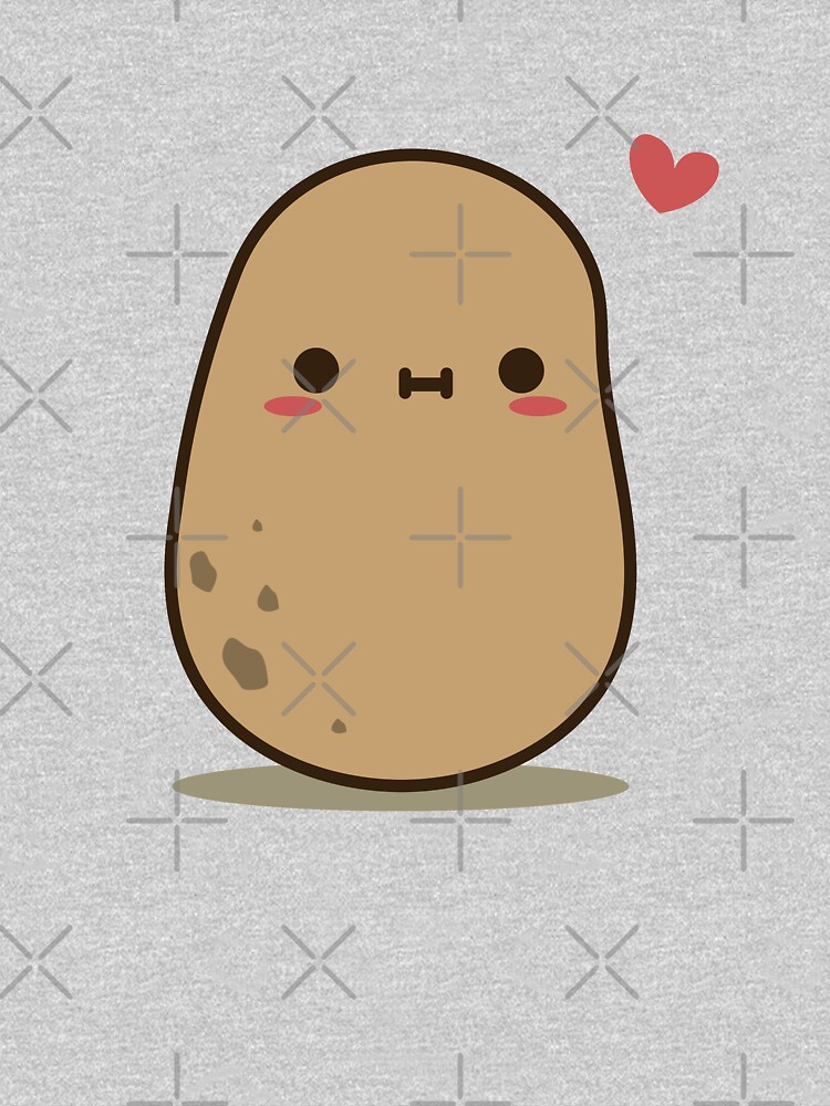 Cute Potato in love by clgtart