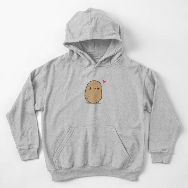Cute Potato in love Kids Pullover Hoodie