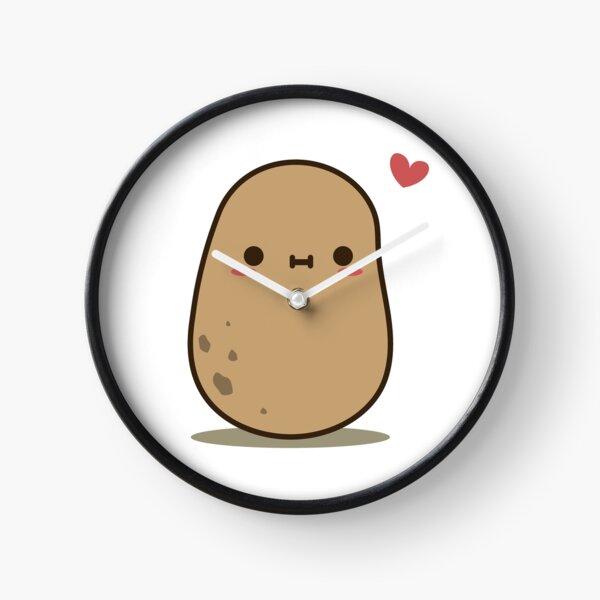 Cute Potato in love Clock