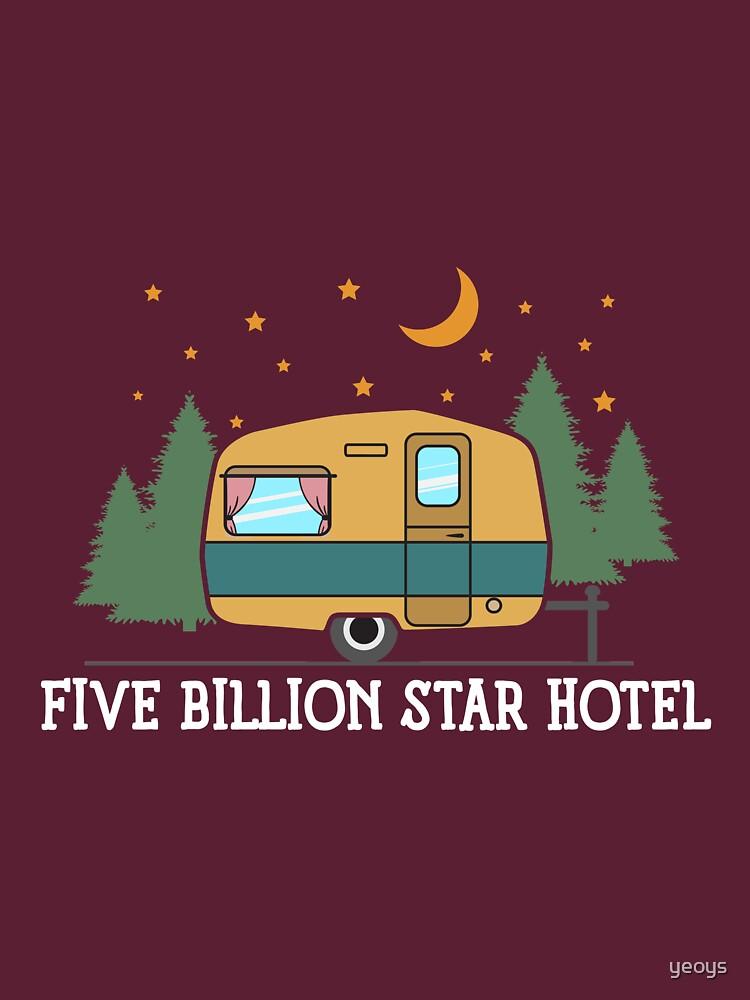 Camping Trailer: Five Billion Star Hotel Gift von yeoys