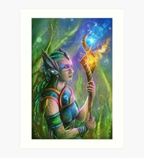 Liuween, Fantasy Digital Painting Art Print