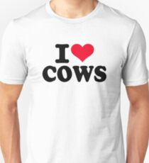 I love cows Unisex T-Shirt