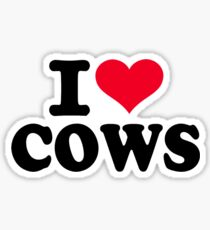 I love cows Sticker