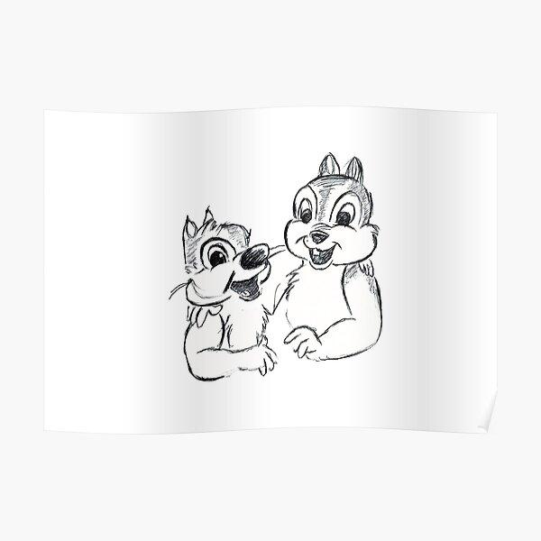 Chipmunk Sketch Poster