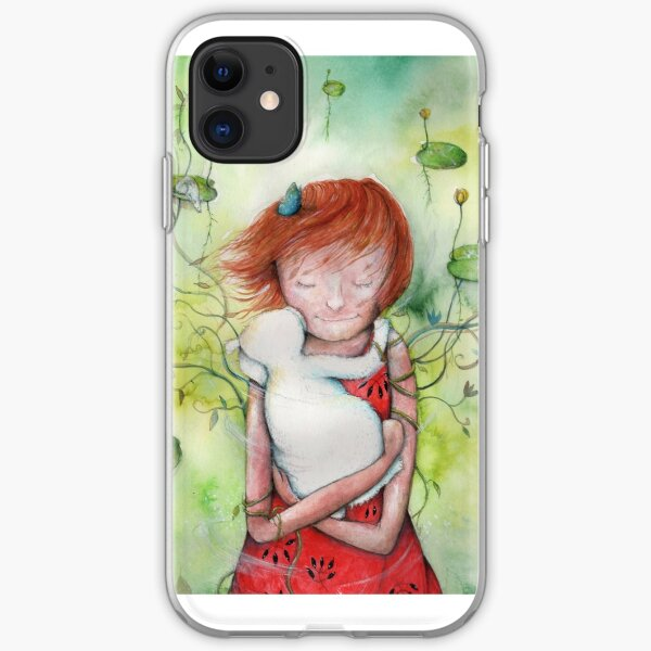 Holding on to the green iPhone Soft Case