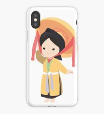Vietnamese traditional four part dress iPhone Case/Skin
