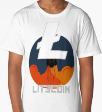 Rocket To The Moon : LITECOIN Edition Long T-Shirt