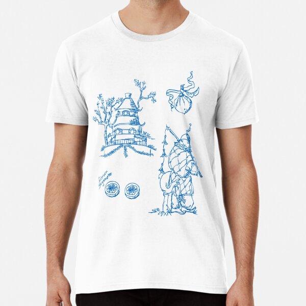 Toile de jouy, Limon Bergamotto, Chinoiserie, pattern Design Premium T-Shirt