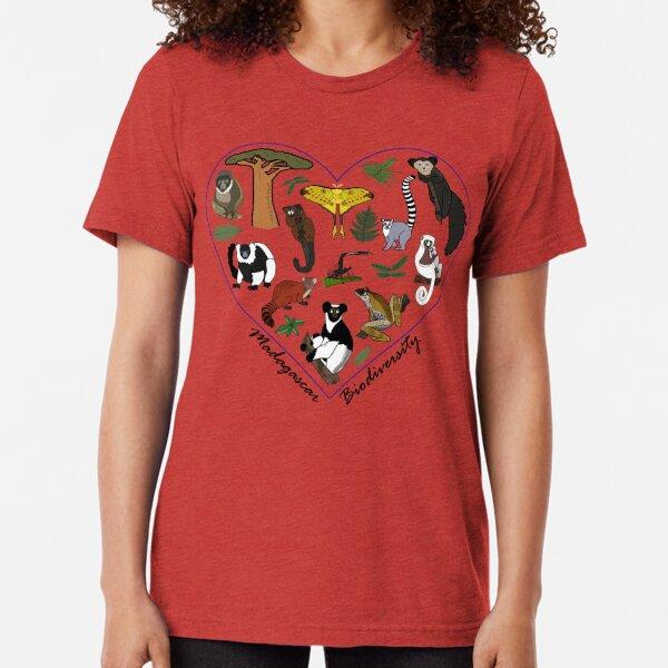 Madagascar Biodiversity Heart Tri-blend T-Shirt