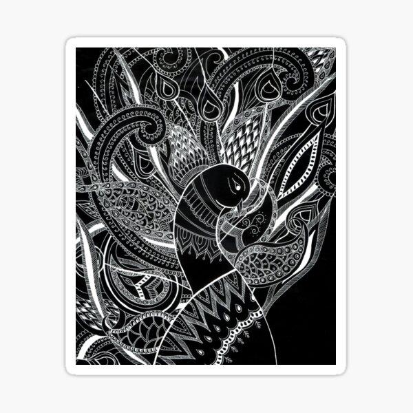 peacock - ArtResponses Sticker