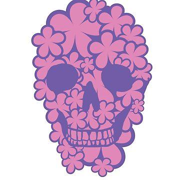 Flower Skull (Pink/Purple) by DiseasedBones