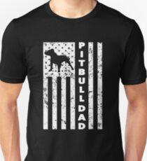 American Pitbull Dad T-shirt Slim Fit T-Shirt