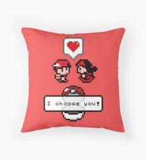 Pokemon Valentine I Choose You!  Throw Pillow