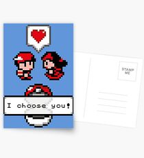 Pokemon Valentine I Choose You!  Postcards