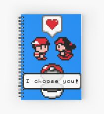 Pokemon Valentine I Choose You!  Spiral Notebook