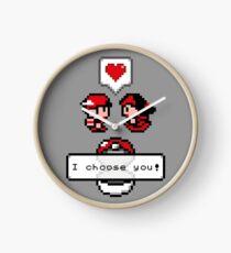 Pokemon Valentine I Choose You!  Clock