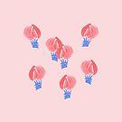 Air Balloons on Pale Pink by Elena Simonova