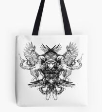 Octopus Eagle Crest Tattoo - Original Illustration Artwork Drawing Tote Bag