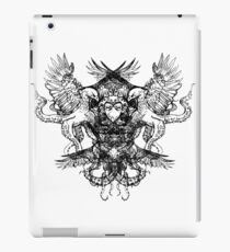 Octopus Eagle Crest Tattoo - Original Illustration Artwork Drawing iPad Case/Skin