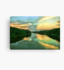 Sunset on the River Canvas Print