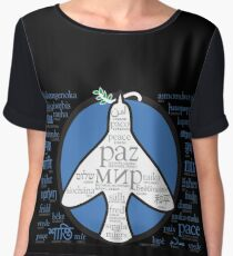Peace in languages and symbols Chiffon Top
