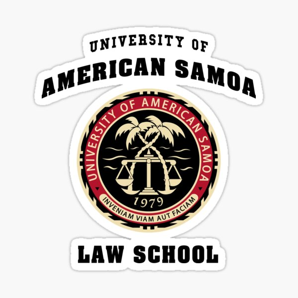 Bcs University Of American Samoa Law School Sticker By Theo P Redbubble In 2015, 34 students graduated in the study area of legal and law with students earning 34 associate's degrees. redbubble