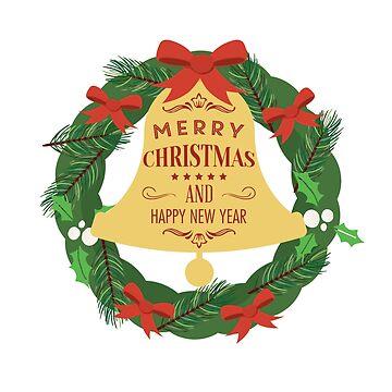 Merry Christmas and Happy New Year  by CatCrewsDesign