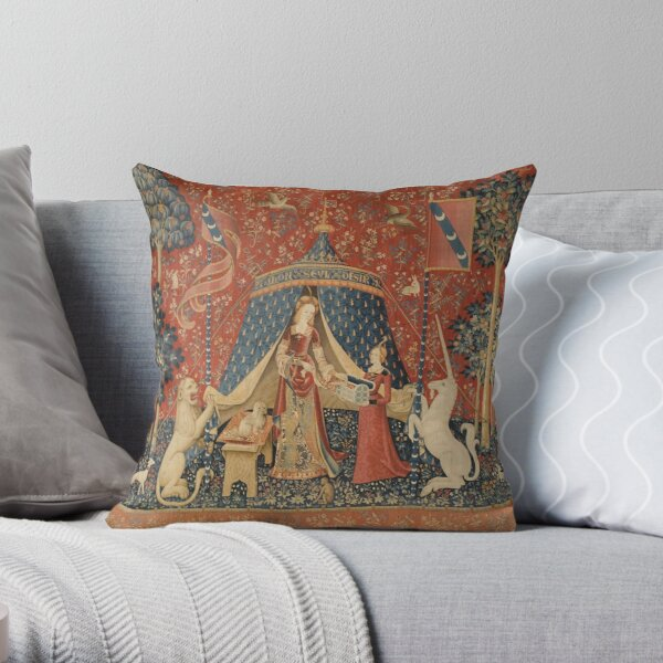 The Lady and the Unicorn: À Mon Seul Désir Throw Pillow