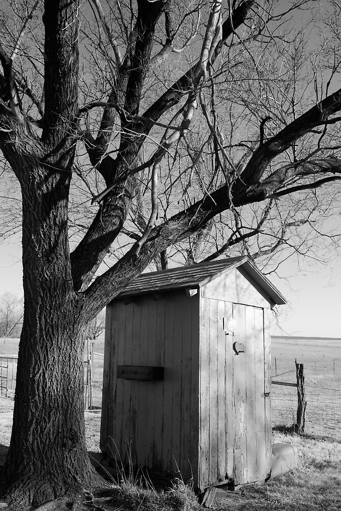Kansas Country Outhouse by Suz Garten