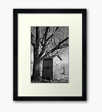 Kansas Country Outhouse Framed Print