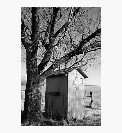 Kansas Country Outhouse Photographic Print