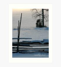 'Peaceful Christmas in Finnish - part II' Art Print