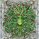 Holly King Christmas Yule Greenman portrait by meredithdillman