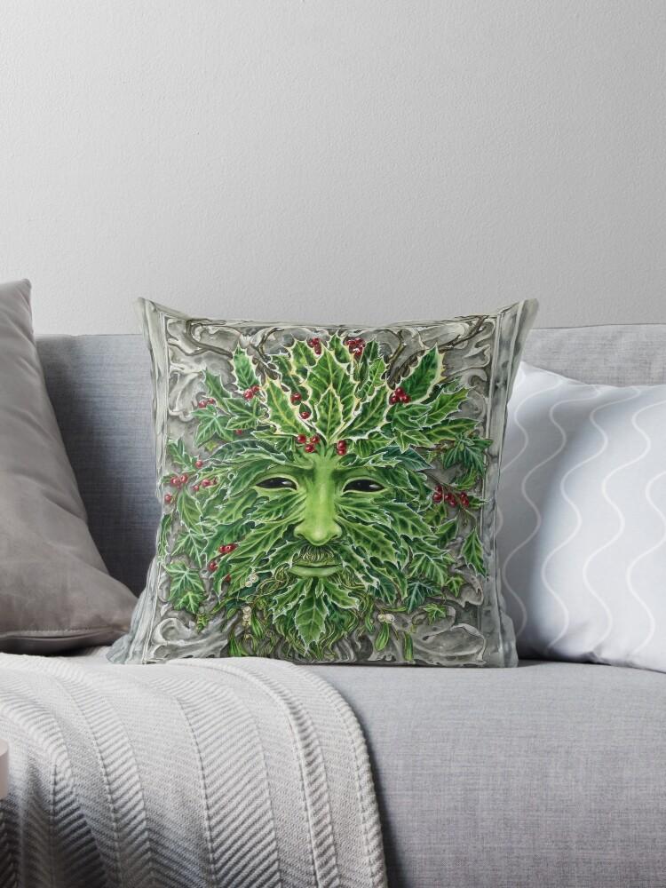 Holly King Christmas Yule Greenman portrait by Meredith Dillman