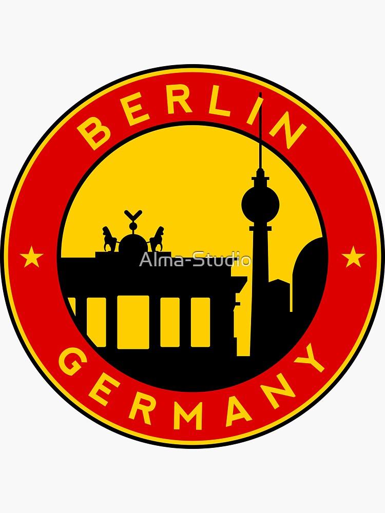 Berlin, sticker, circle by Alma-Studio