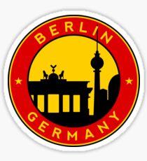 Berlin, sticker, circle Sticker