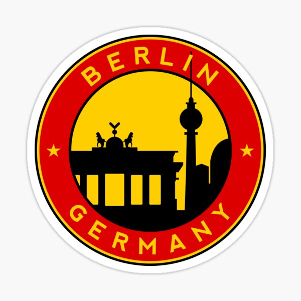 Berlin, sticker, circle Sticker