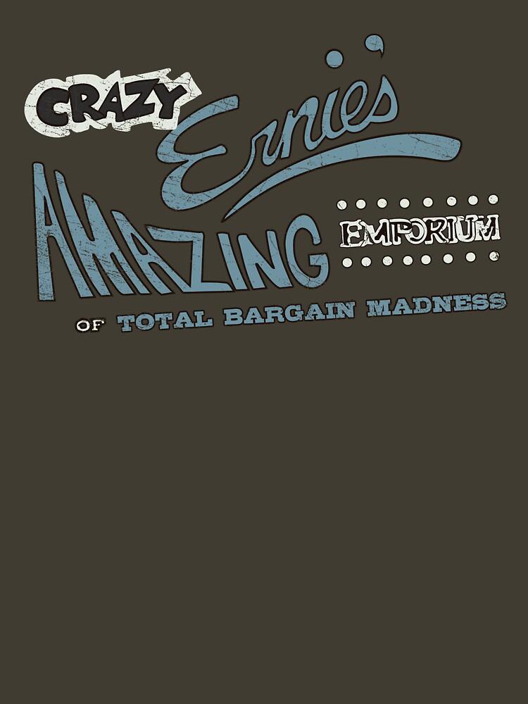Brave Little Toaster - Crazy Ernie's Emporium (white/blue) Shirt by lbutler0000107