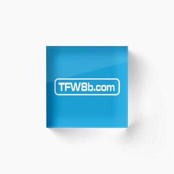 TFW8b.com logo Acrylic Block