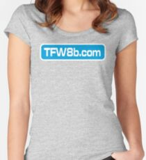 TFW8b.com logo Women's Fitted Scoop T-Shirt