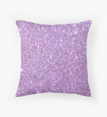 Lilac Glitter Throw Pillow