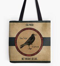 Old Crow Egg Mash Vintage Feed Sack Tote Bag